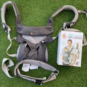 Ergobaby 360 cool air baby carrier (4 stag, grey)